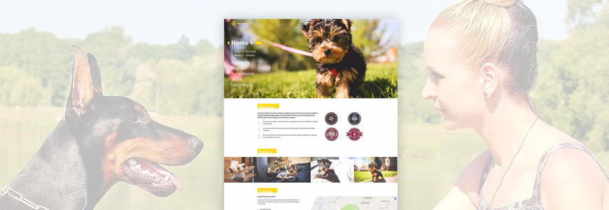 Animal breeder website template for Joomla
