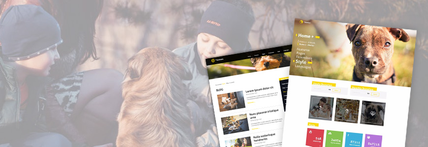Animal shelter website template for Joomla