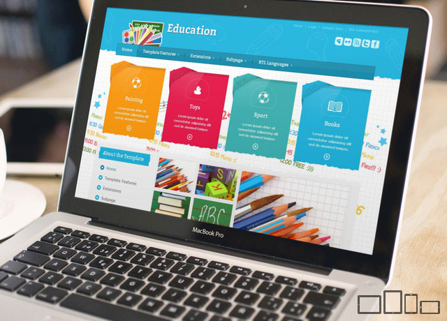 best school joomla 3 template