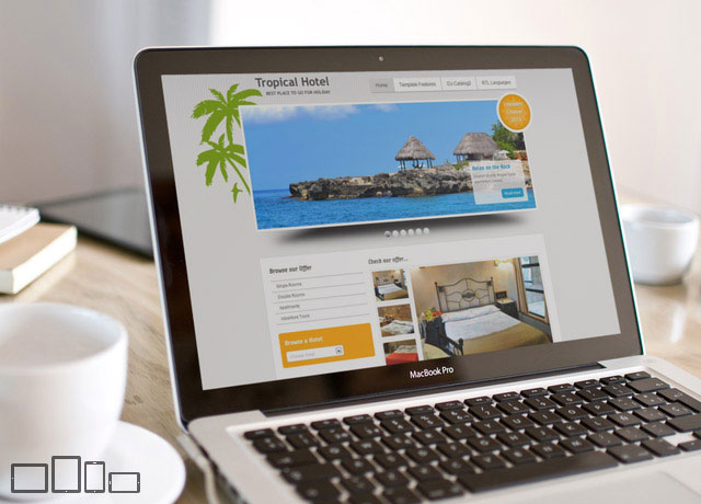 JM Tropical Hotel - responsive Joomla 3 template for tropical hotels
