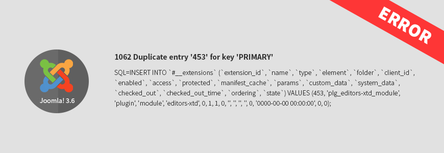 Solution for: 1062 Duplicate sql entry error while updating to