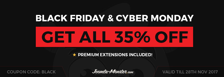 Black Friday Joomla templates and extensions