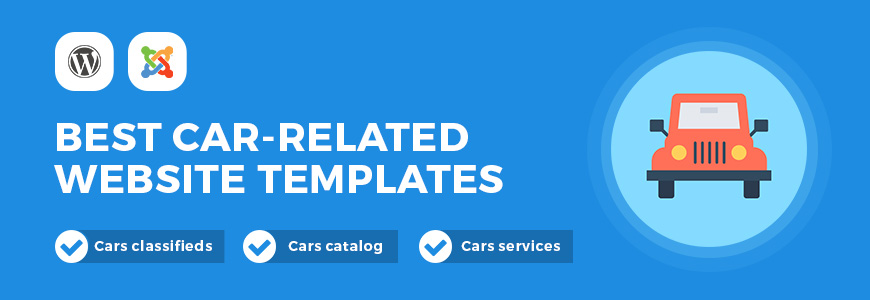 Build the successful car website with the best car-related website templates.