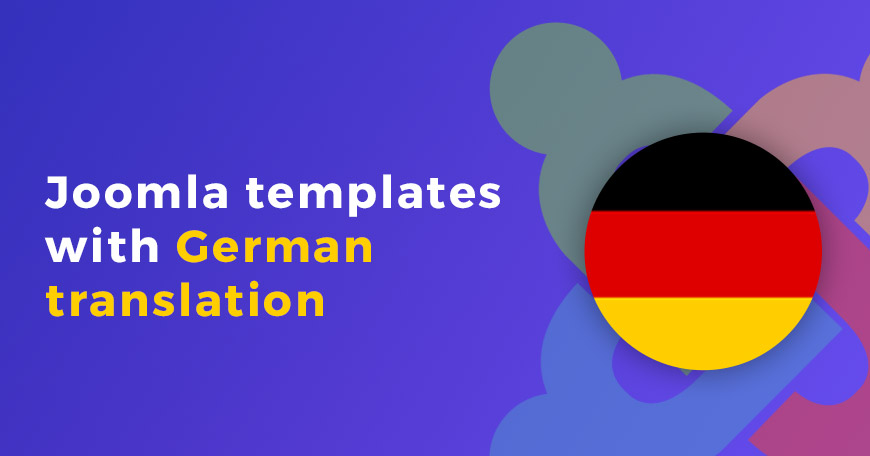 Joomla templates Deutsch language support