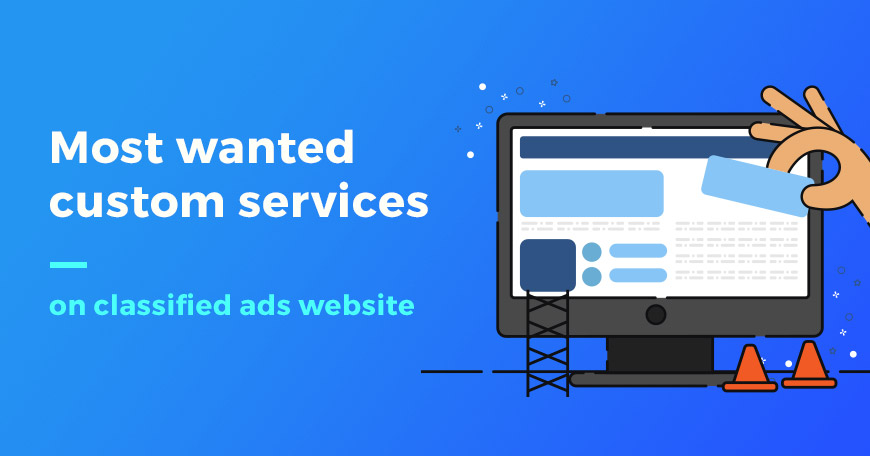 Additional popular services that customers order for their classified ads website
