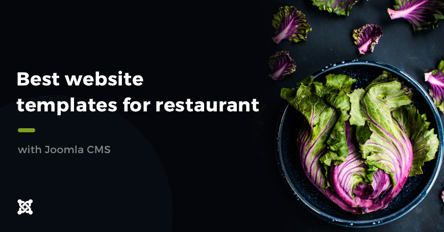Best restaurant website templates created with Joomla.