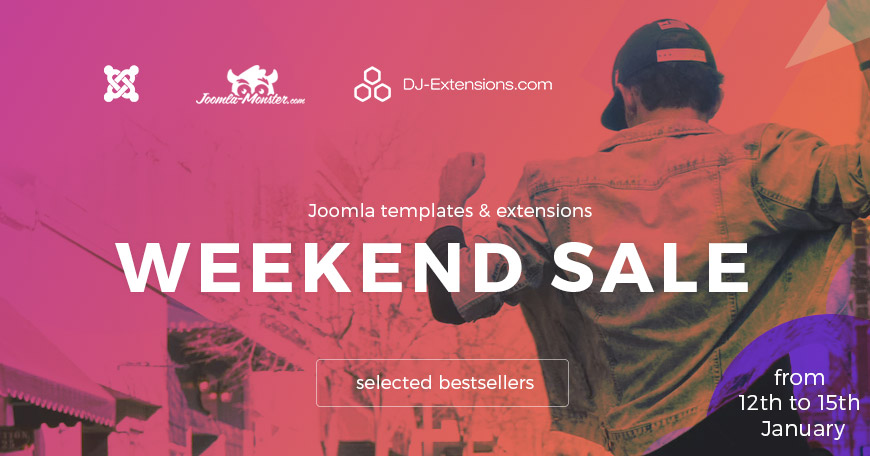 Joomla templates and extensions weekend sale!