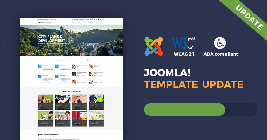 Commune Offices - WCAG and ADA Joomla template