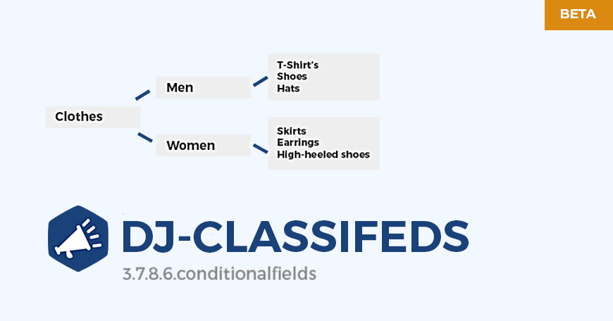 DJ-Classifieds with conditional fields