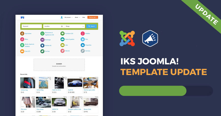 JM IKS classifieds Joomla template has been updated.