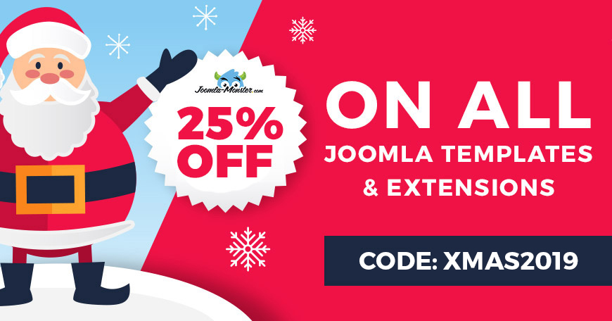 Christmas 2019 sale on Joomla templates and extensions