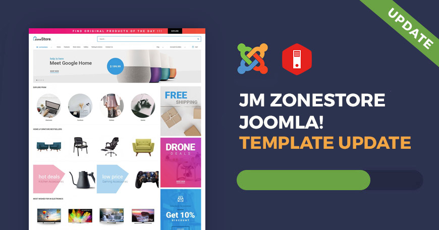 JM ZoneStore ecommerce Joomla template has been updated.