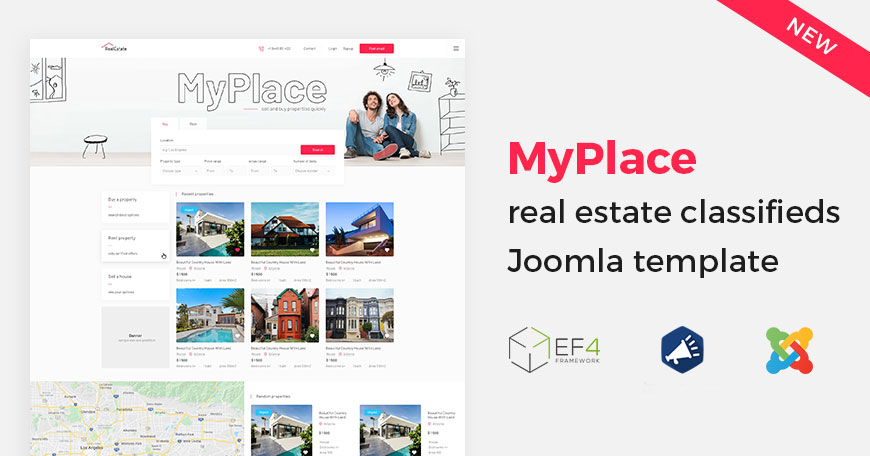 real estate classifieds Joomla template