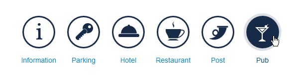 Simple animated slide and rotate effects for icons  - Joomla