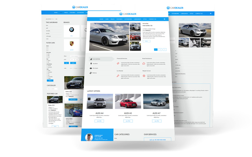 Cars offer presentation Joomla template