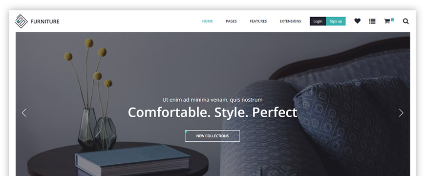 Furniture and decor eCommerce website template