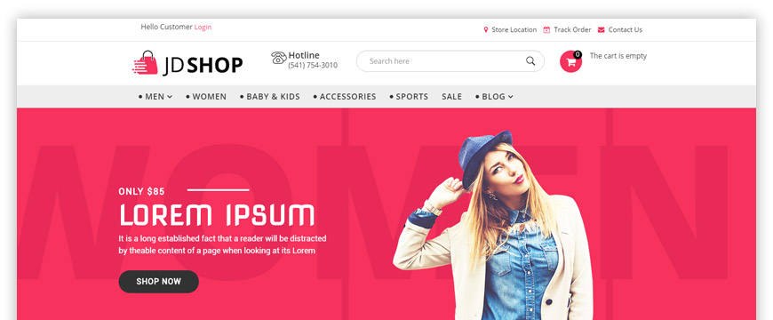 eCommerce Joomla template for fashion and beauty store