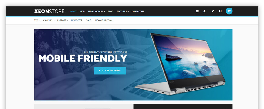 eCommerce website template for the electronics store