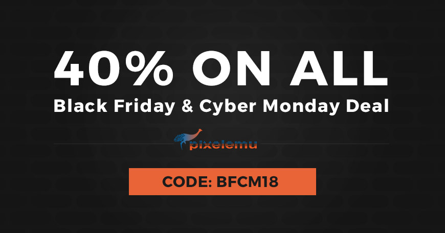Black Friday / Cyber Monday 2018 deal discount on WordPress themes