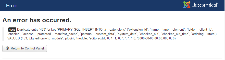Solution for: 1062 Duplicate sql entry error while updating