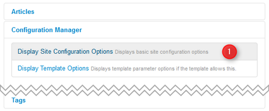display-site-configuration