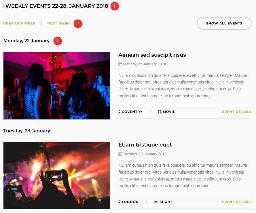 joomla events component