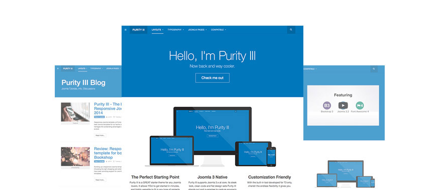 Purity free Joomla template