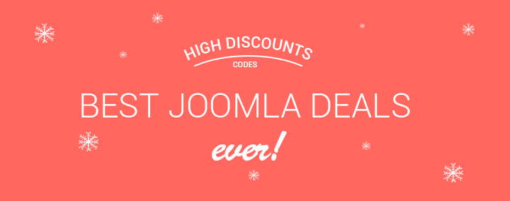 Check the list of best Xmas & New Year deals coupons for Joomla templates & Joomla extensions!