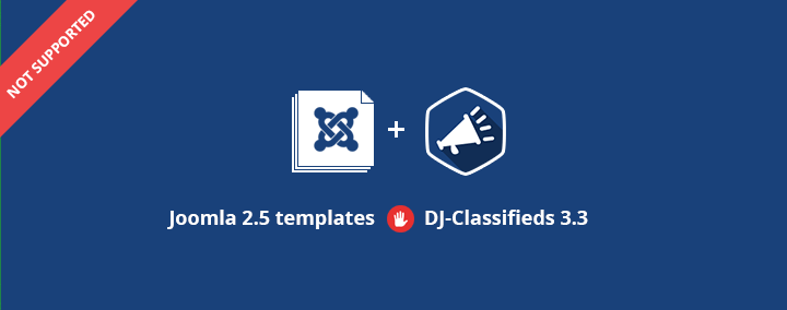 Joomla 2.5 templates and DJ-Classifieds 3.3