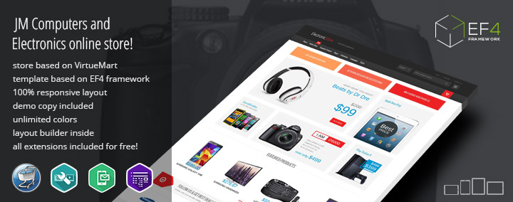 JM Computers and Electronics Store - Multipurpose Online Store Joomla 3 template