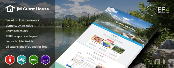 JM Guest House - Hotel & Travel Offers Joomla 3 template