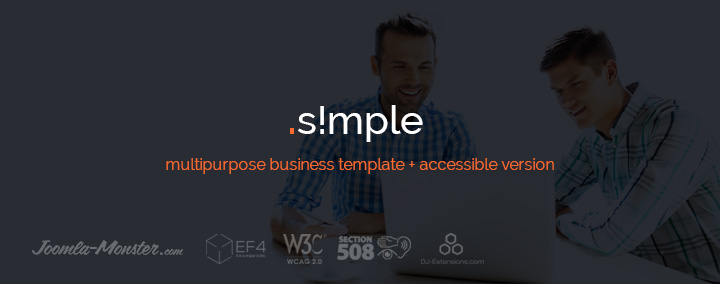 It is really simple! Check out JM Simple accessible Joomla template.