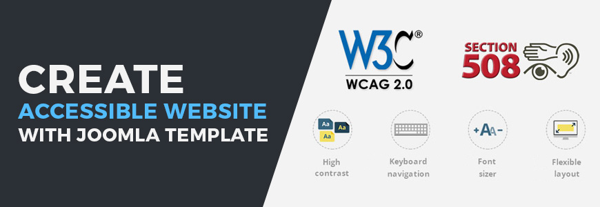 make accessible website with wcag ada 508 compliance joomla