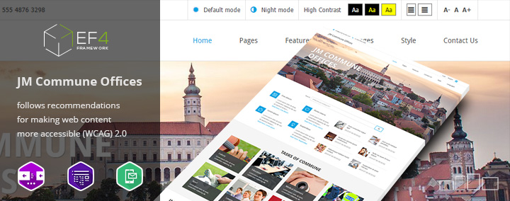 JM Commune Offices - Public Institution Joomla 3 Template (WCAG and Section 508 compatible)