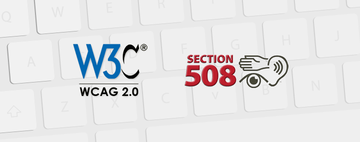 How to use keyboard shortcuts with WCAG (Section508) compatible template?