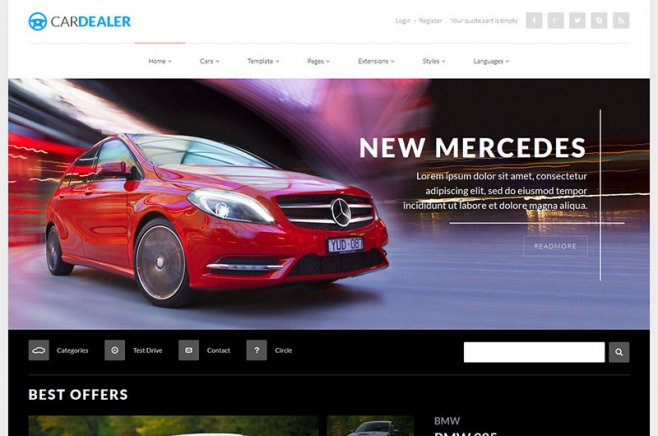 car dealer joomla template