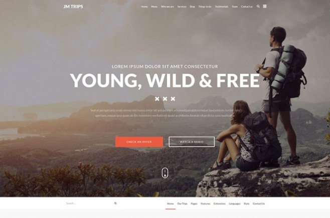 joomla travel templates