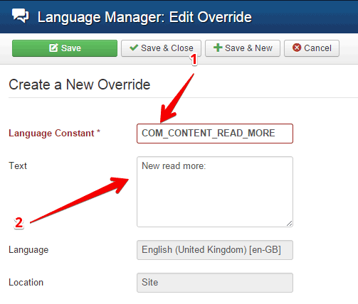 Create a language override