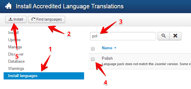 Install languages