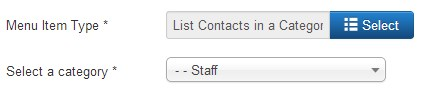 How to configure contact form Joomla