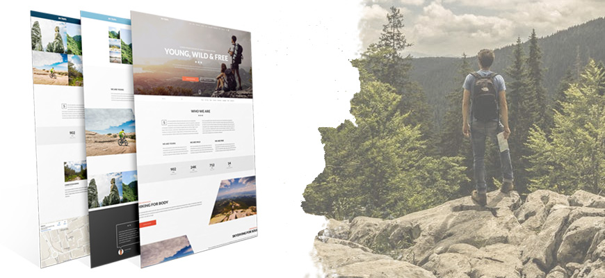 Trips and adventures website joomla template