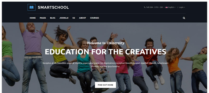 Sj SmartSchool - a multipurpose educational Joomla template created for education organizations