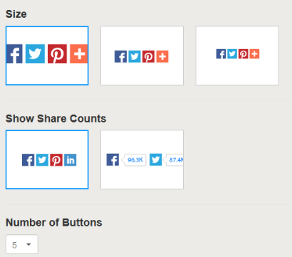 sharing buttons