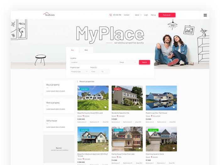 real estate joomla template discount