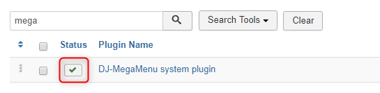 "Extensions > Plugins and make sure the plugin "" DJ-MegaMenu system plugin "" is enabled."
