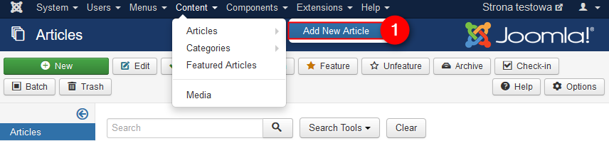 How to create Joomla article?
