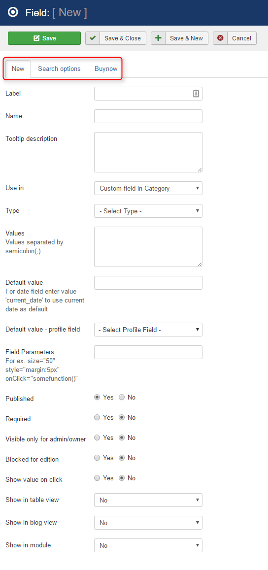 create custom field in classifieds template