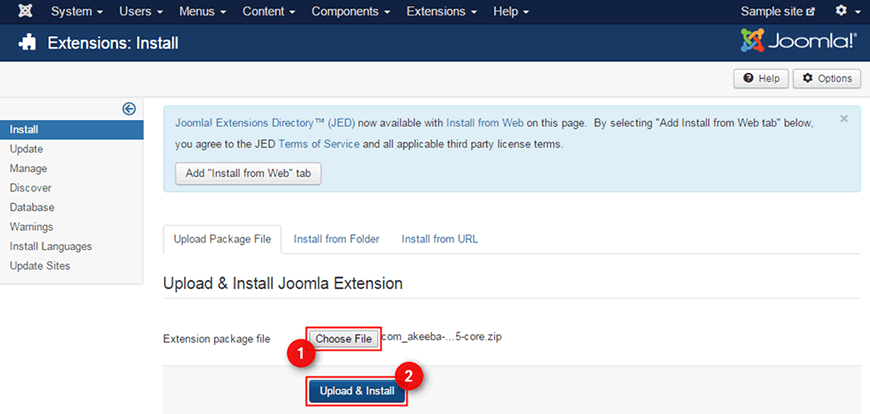 How to backup your Joomla site using AkeebaBackup?