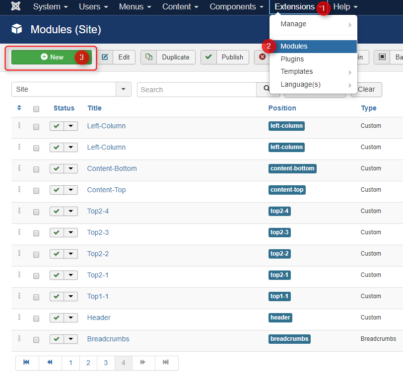 create new joomla module