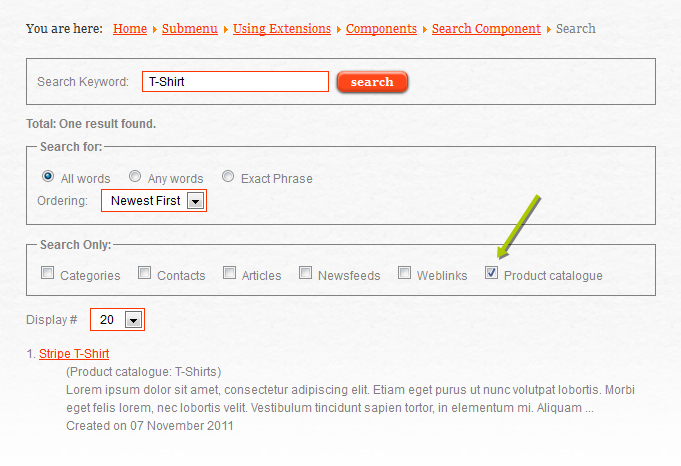 How To Integrate Standard Joomla Search With Dj Catalog2 Component